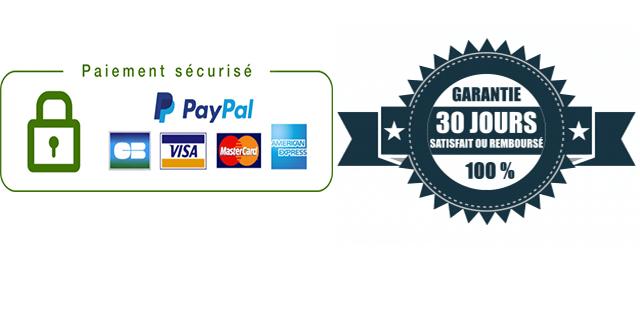 paiement sécurisé garantie satisfait ou remboursé